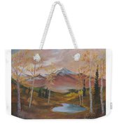 Golden Fire Of Autumn Weekender Tote Bag