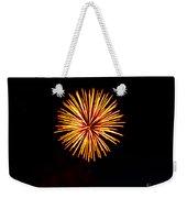 Golden Fireworks Flower Weekender Tote Bag