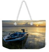 Golden Fishing Hour Weekender Tote Bag