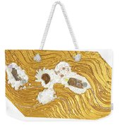 Golden Flow Stream Weekender Tote Bag