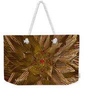 Golden Flower - Ruby Heart Weekender Tote Bag