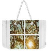 Golden Forest  Branches White 8 Windowpane View Weekender Tote Bag