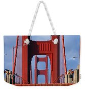 Golden Gate Bridge Weekender Tote Bag by Adam Romanowicz