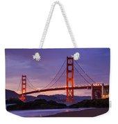Golden Gate Dusk Weekender Tote Bag