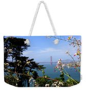 Golden Gate Bridge And Wildflowers Weekender Tote Bag