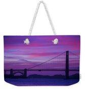 Golden Gate Bridge At Twilight Weekender Tote Bag