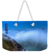 Golden Gate Bridge In The Fog Weekender Tote Bag
