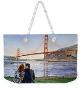 Golden Gate Bridge San Francisco - Two Love Birds Weekender Tote Bag