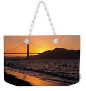 Golden Gate Bridge Sunset Weekender Tote Bag