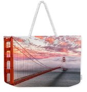 Golden Gate Bridge Sunset Evening Commute Weekender Tote Bag