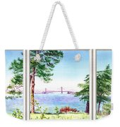 Golden Gate Bridge View Window Weekender Tote Bag