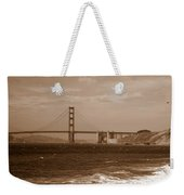 Golden Gate Bridge With Surf Sepia Weekender Tote Bag