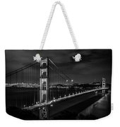 Golden Gate Evening- Mono Weekender Tote Bag