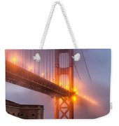 Golden Gate In Fog Weekender Tote Bag