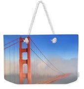 Golden Gate In Morning Fog Weekender Tote Bag