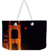 Golden Gate Night Weekender Tote Bag