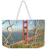 Golden Gate Through The Fence Weekender Tote Bag