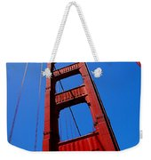 Golden Gate Tower Weekender Tote Bag by Rona Black