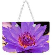 Golden Glow Of The Lavender Lotus Weekender Tote Bag