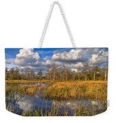 Golden Grasses Weekender Tote Bag by Debra and Dave Vanderlaan
