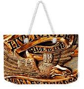 Golden Harley Davidson Logo Weekender Tote Bag