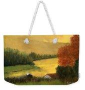 Golden Haze Weekender Tote Bag