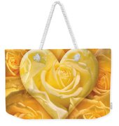 Golden Heart Of Roses Weekender Tote Bag