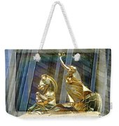 Golden Horse In The City Weekender Tote Bag
