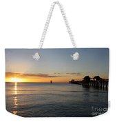 Golden Hour At Naples Pier Weekender Tote Bag