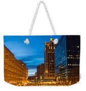 Golden Hour Milwaukee River Weekender Tote Bag