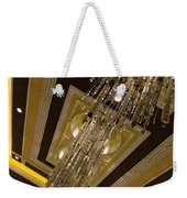 Golden Jewels And Gems - Sparkling Crystal Chandeliers  Weekender Tote Bag