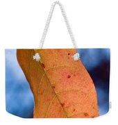 Golden Lanceolate Leaf Weekender Tote Bag