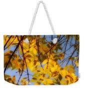 Golden Leaf Cascade Weekender Tote Bag