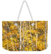 Golden Leaves In Autumn Abstract Weekender Tote Bag