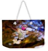 Golden Light Hummingbird Flight Weekender Tote Bag