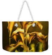 Golden Lilies By Night Weekender Tote Bag