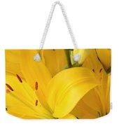 Golden Lilies Weekender Tote Bag