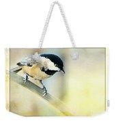 Golden Morning Chickadee Photo Art Weekender Tote Bag