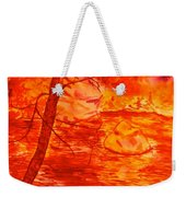 Golden Mountain Lake Morning  Weekender Tote Bag