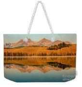 Golden Mountains  Reflection Weekender Tote Bag