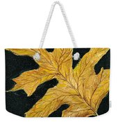 Golden Oak Leaf Weekender Tote Bag