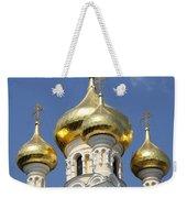 Golden Onion Domes - Church Yalta Weekender Tote Bag