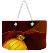 Golden Ornament With Red Ribbons Weekender Tote Bag