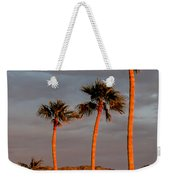 Golden Palm Trees Weekender Tote Bag