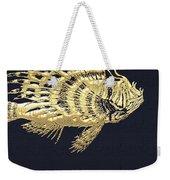 Golden Parrot Fish On Charcoal Black Weekender Tote Bag