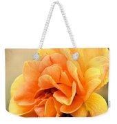 Golden Peach Rose Weekender Tote Bag
