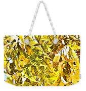 Golden Pecan Leaves Abstract Weekender Tote Bag