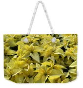 Golden Poinsettias Weekender Tote Bag