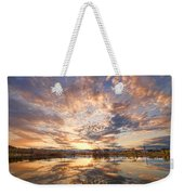 Golden Ponds Scenic Sunset Reflections 3 Weekender Tote Bag