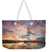 Golden Ponds Scenic Sunset Reflections 4 Weekender Tote Bag